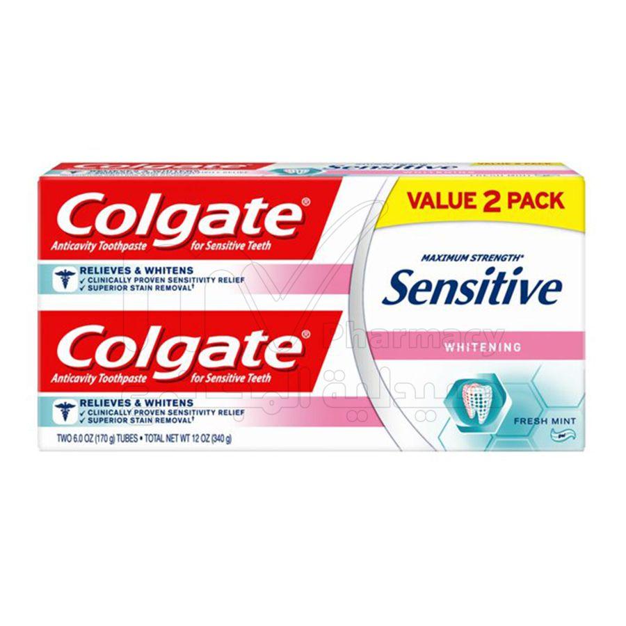 كولجيت معجون لثة حساسه مبيض1+1